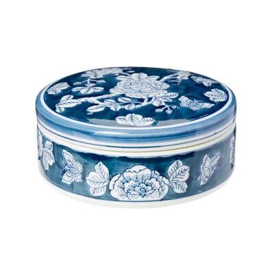 Camille Ceramic Round Trinket Box