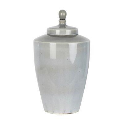 Harbor Ceramic Tapered Ginger Jar, Large, Pearl Grey