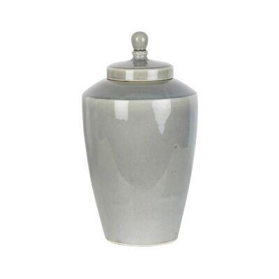Harbor Ceramic Tapered Ginger Jar, Small, Pearl Grey