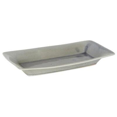 Harbor Ceramic Tray, Large, Pearl Grey