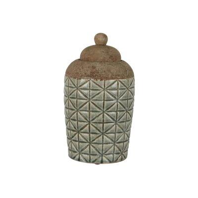 Anis Ceramic Ginger Jar, Small, Sage