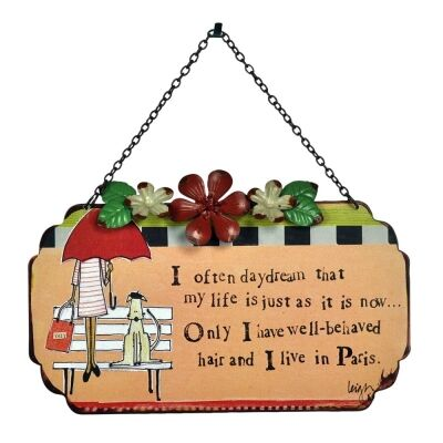 Leigh Tin Wall Plaque with Chain - My Life
