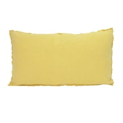 Rectangle Linen Pillow - Yellow