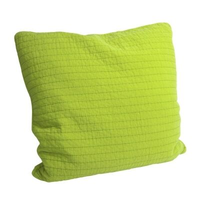 Square Quilted Cotton Bean Stitch Pillow -Green