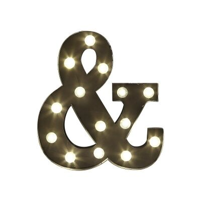 Marquee Ampersand Metal Wall Sign with LED