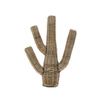 Cancun Rattan Cactus Sculpture, Small