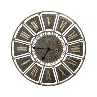 Alsace Country Metal Round Wall Clock, 82cm