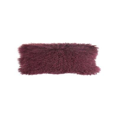 Amersham Tibetan Lambswool Lumbar Cushion, Mulberry