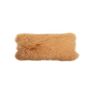 Amersham Tibetan Lambswool Lumbar Cushion, Terra