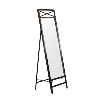 Indiana Metal Frame Standing Mirror, 191cm