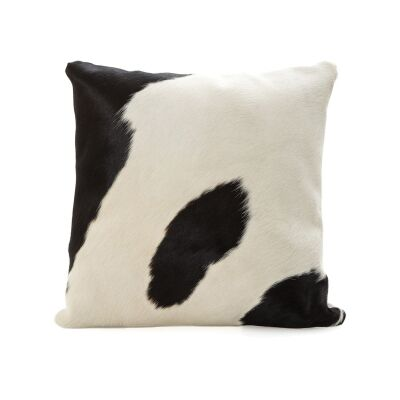 Ndebele Faux Cowhide Scatter Cushion, White / Black