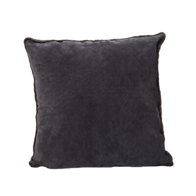 Tibetan Suede Scatter Cushion, Large, Charcoal