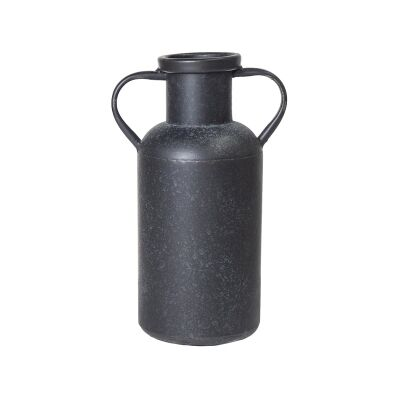 Nero Iron Milk Can Vase