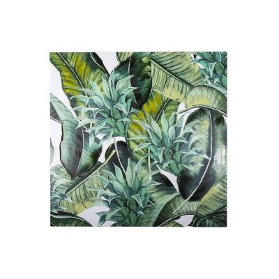 Bryant Stretched Canvas Wall Ar Print, Tropical Leaves C, 80cm