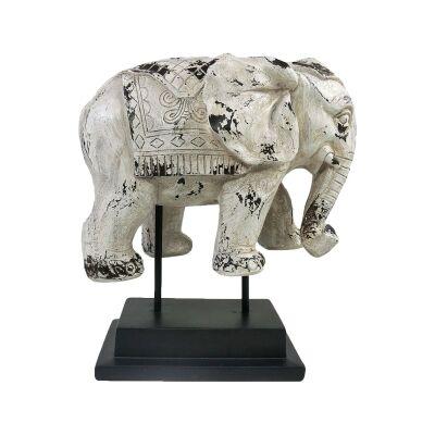 Hathi Elephant Figurine on Stand
