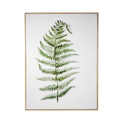 Kason Framed Canvas Wall Art Print, Fern Leaf, 120cm