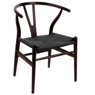 Dante Timber Dining Chair, Dark Walnut