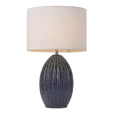 Darla Ceramic Base Table Lamp, Navy