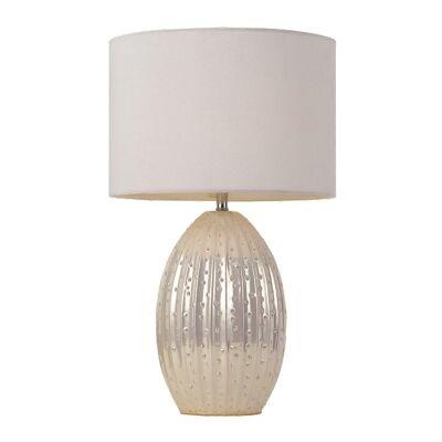 Darla Ceramic Base Table Lamp, Pearl