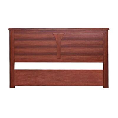 Darwin Jarrah Timber Bed Headboard, Queen