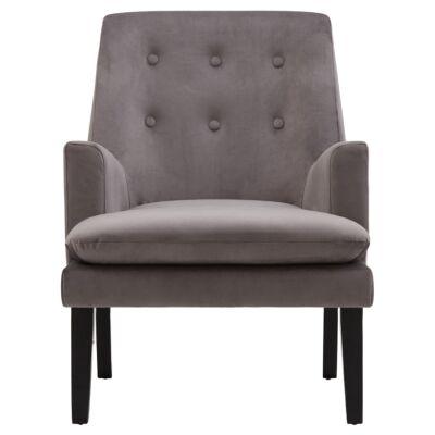 Masha Velvet Fabric Armchair, Grey