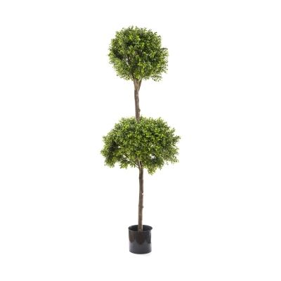 Potted Artificial Boxwood Ball Topiary, 170cm