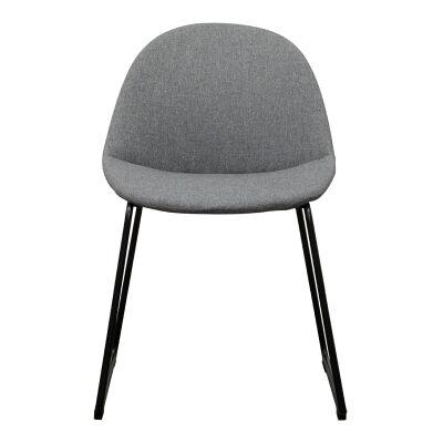 Olof Fabric Dining Chair, Grey