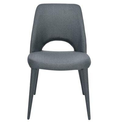 Flores Fabirc Dining Chair, Gunmetal Grey