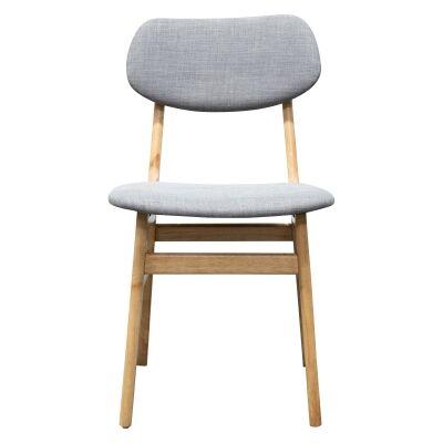 Belinda Fabric & Wood Dining Chair, Grey