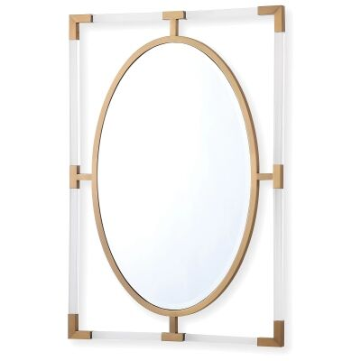 Ruoni Oval Wall Mirror, 99cm, Gold