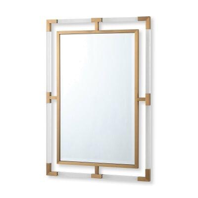 Ruoni Rectangular Wall Mirror, 99cm, Gold