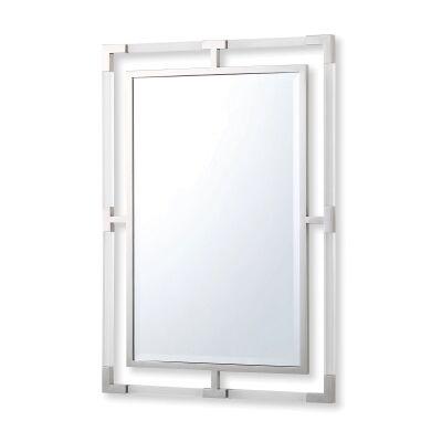 Ruoni Rectangular Wall Mirror, 99cm, Silver