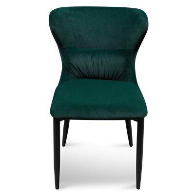 Barnaby Velvet Fabric Dining Chair, Emerald