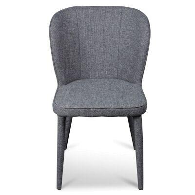 Cassilis Fabric Dining Chair, Dark Grey