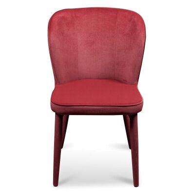 Cassilis Velvet Fabric Dining Chair, Ruby