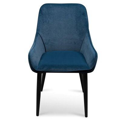 Caribou Velvet Fabric Dining Chair, Navy