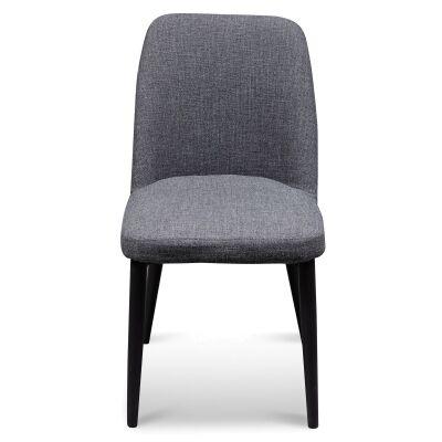 Degelis Fabric Dining Chair, Dark Grey