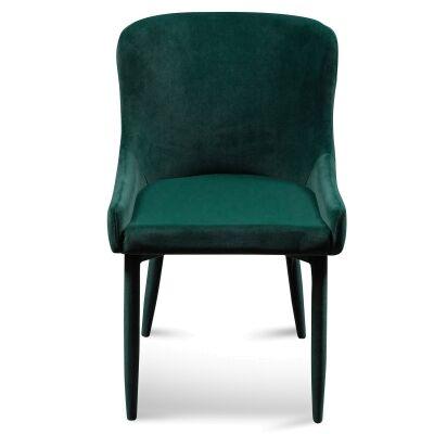Ranlo Velvet Fabric Dining Chair, Emerald