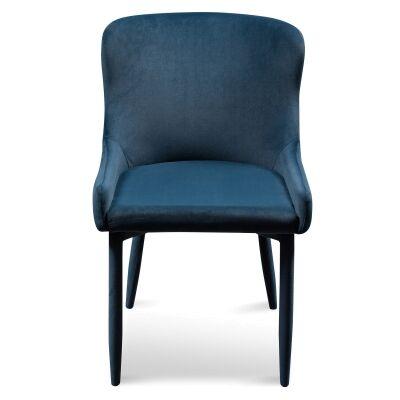 Ranlo Velvet Fabric Dining Chair, Navy