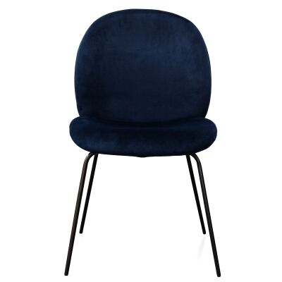 Ronne Velvet Fabric Dining Chair, Navy