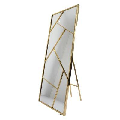 Loiri Metal Frame Cheval Floor Mirror, 180cm