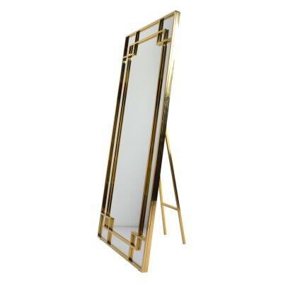 Arzana Metal Frame Cheval Floor Mirror, 180cm