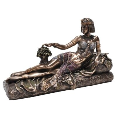 Cast Bronze Figurine of Reclining Cleopatra