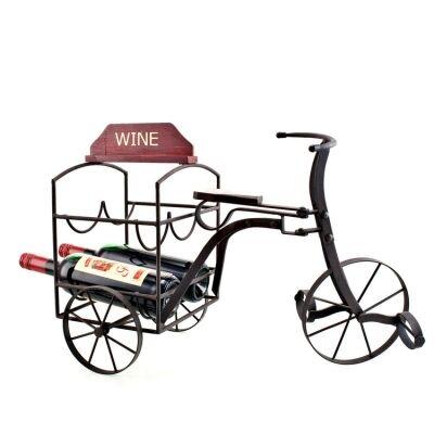 Tricycle Rustic Metal Wine Bottle Holder - 54cm