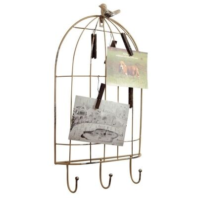 Metal Birdcage Design Picture and Card Holder