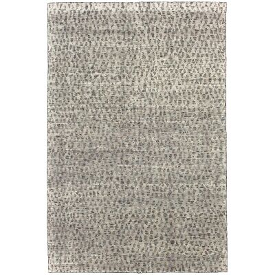 Deco Diamonds Hand Knotted Wool Rug, 200x300cm, Charcoal