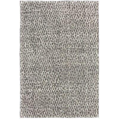 Deco Diamonds Hand Knotted Wool Rug, 200x300cm, Steel