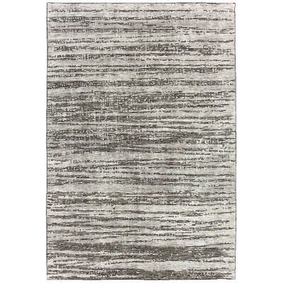Deco Ridges Hand Knotted Wool Rug, 250x350cm, Steel