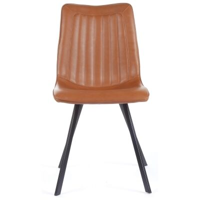 Henleaze Faux Leather Dining Chair, Vintage Cognac