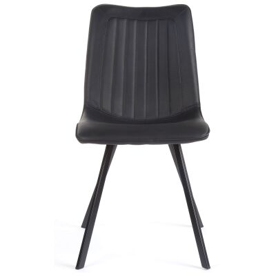 Henleaze Faux Leather Dining Chair, Black